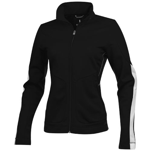Maple knit ladies Jacket in black-solid