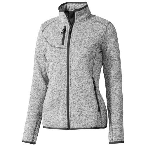 Tremblant ladies knit jacket in heather-grey