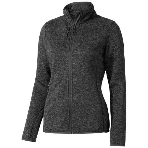 Tremblant ladies knit jacket in heather-smoke