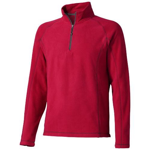 Bowlen polyfleece quarter zip in red