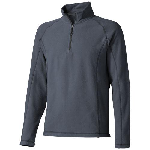 Bowlen polyfleece quarter zip in storm-grey