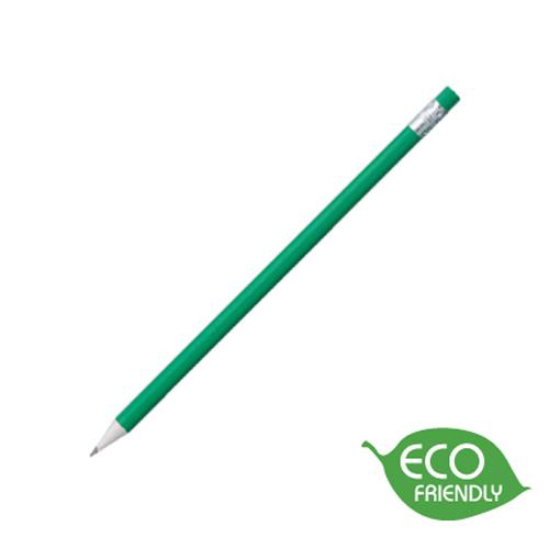 Newspaper Pencil in green-silver