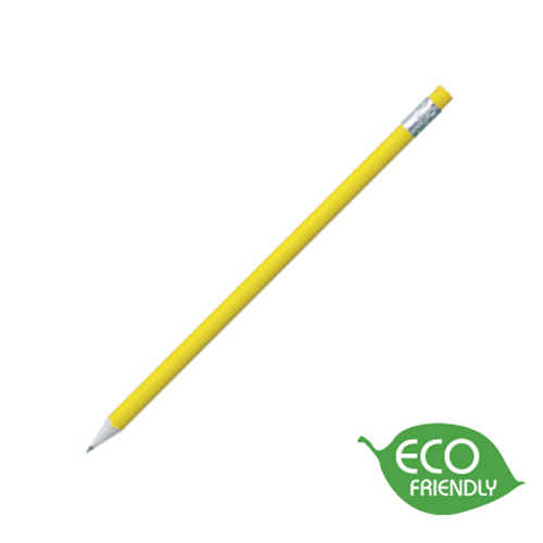 Newspaper Pencil in yellow-silver