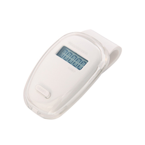 Oval Pedometer White/Clear in