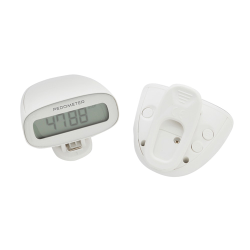 Multi Function Pedometer - White/Clear in