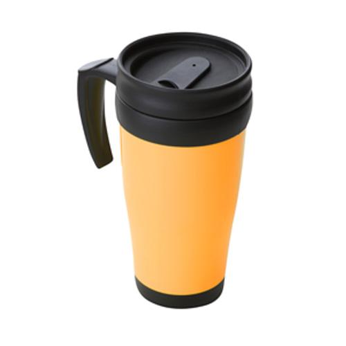 Travel Mug in orange-black