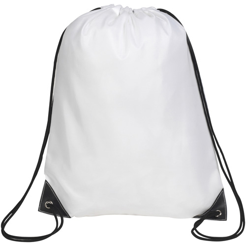 Knole Premium Drawstring Bag in white