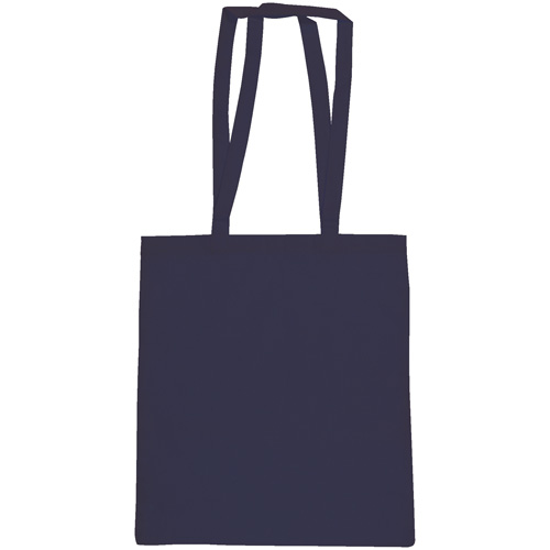 Snowdown Premium Cotton Tote Bag in navy