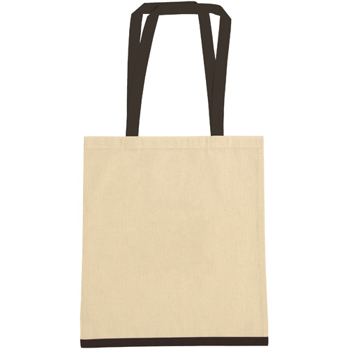 Eastwell 4.5oz Cotton Tote Bag in natural-and-black