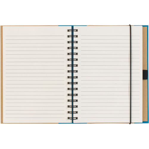 Birchley A5 Recycled Notebook in natural-and-blue