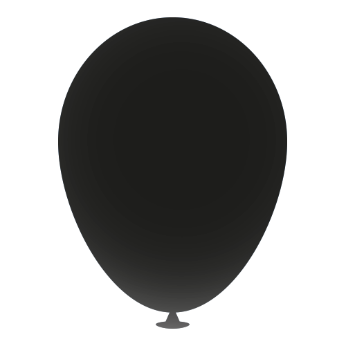 12 Inch Latex Balloons in black