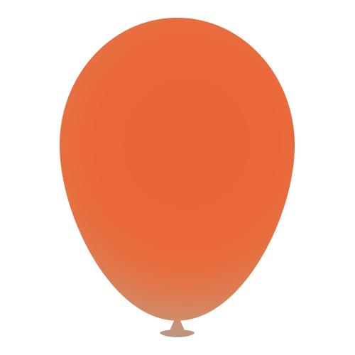 12 Inch Latex Balloons in burnt-orange