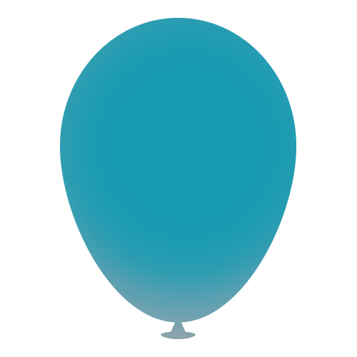 12 Inch Latex Balloons in teal