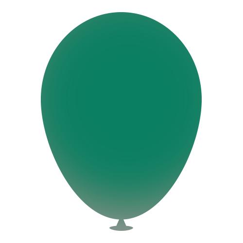 10 Inch Latex Balloons in dark-green