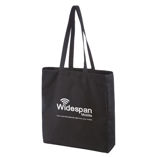 Black Premium Canvas Shopper in black-screen