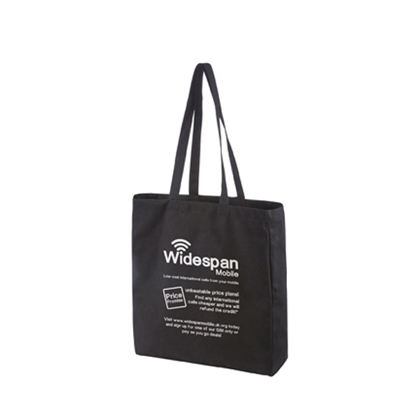Black Premium Canvas Shopper in black
