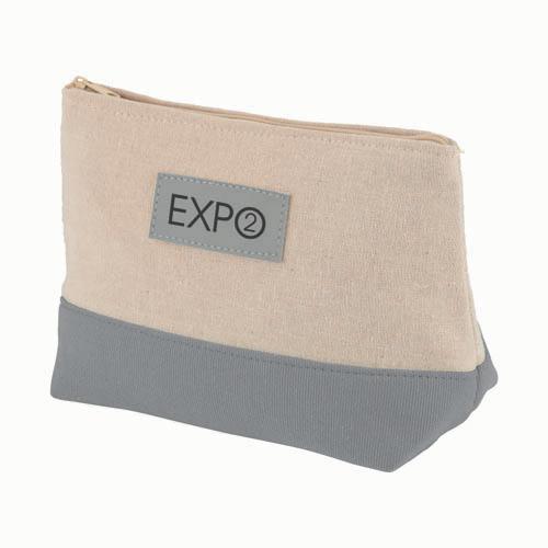 Amenity Bag in natural-and-grey