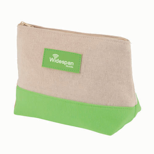 Amenity Bag in natural-and-lime