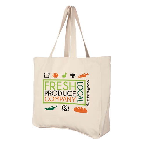 Build A Bag Deluxe Natural Cotton Shopper in natural