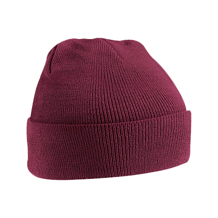 Acrylic Knitted Hat in burgundy