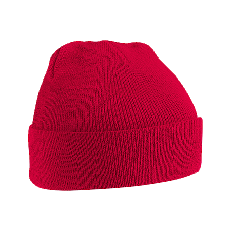 Acrylic Knitted Hat in classic-red
