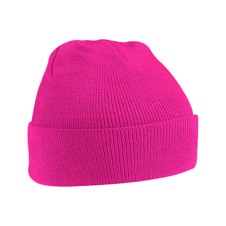 Acrylic Knitted Hat in fuchsia