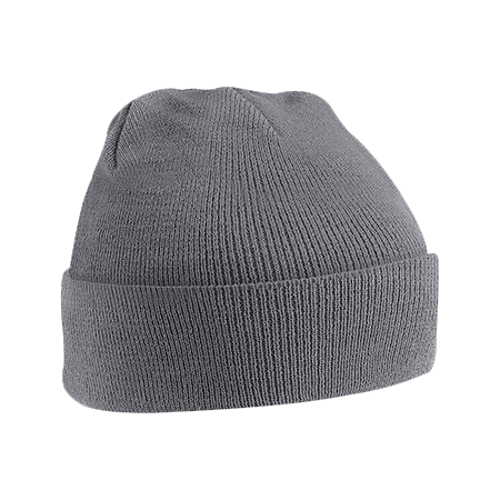 Acrylic Knitted Hat in graphite-grey