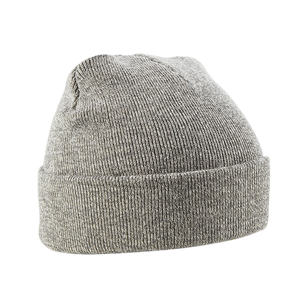 Acrylic Knitted Hat in heather-grey