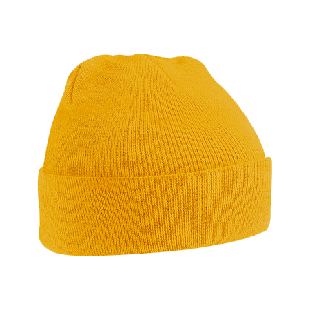 Acrylic Knitted Hat in mustard