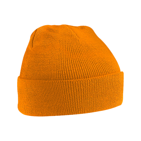 Acrylic Knitted Hat in orange