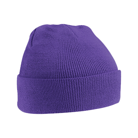 Acrylic Knitted Hat in purple