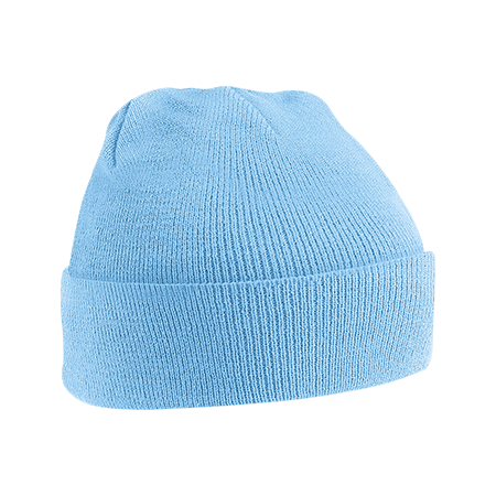 Acrylic Knitted Hat in sky-blue