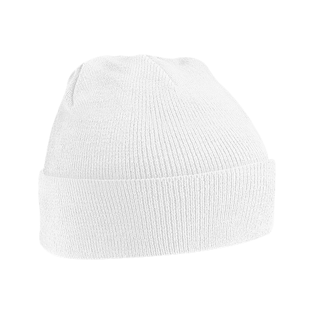 Acrylic Knitted Hat in white
