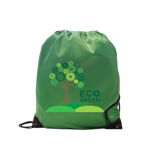 Burton 210d Polyester Drawstring Bag in green
