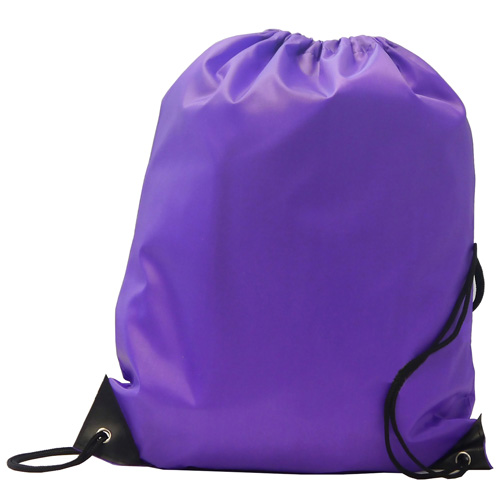 Burton 210d Polyester Drawstring Bag in purple