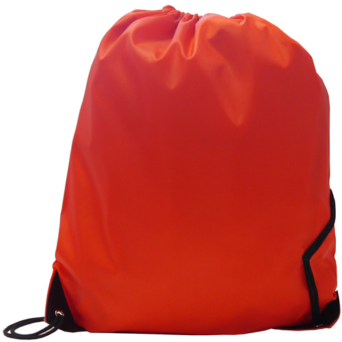 Burton 210d Polyester Drawstring Bag in red