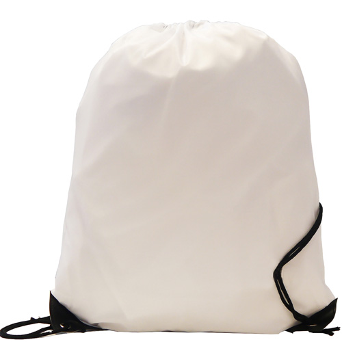 Burton 210d Polyester Drawstring Bag in white