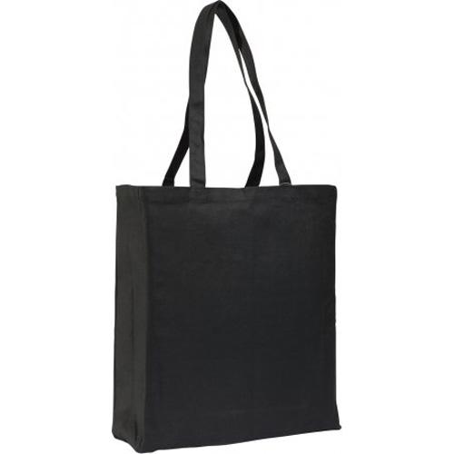 Dunham 10oz Black Canvas Shopper Bag With Gusset