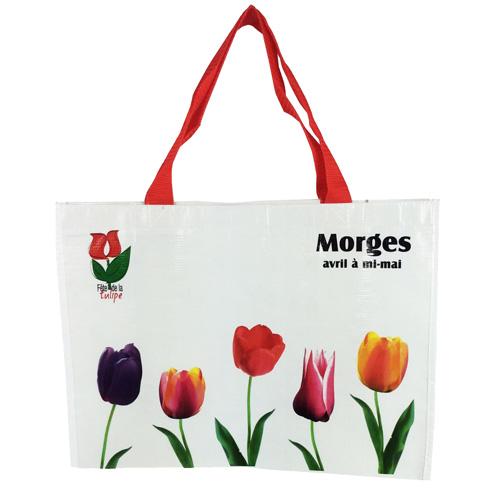 Large Woven Shopping Bag With A Gusset