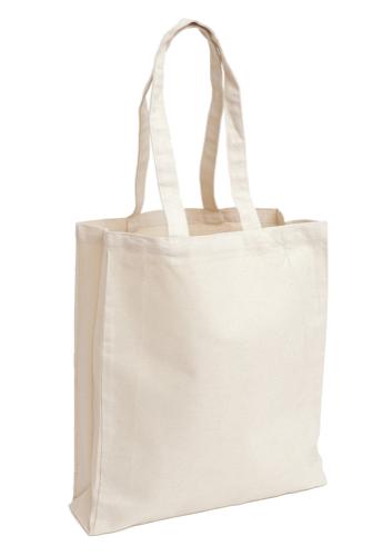 Dunham 8oz Premium Black Cotton Shopper Bag with Gusset