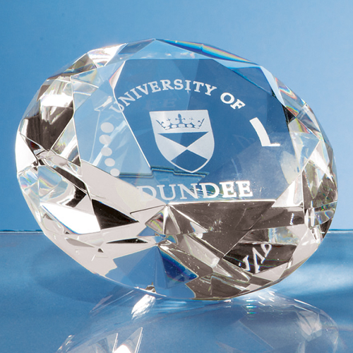10cm Optical Crystal Clear Diamond Paperweight