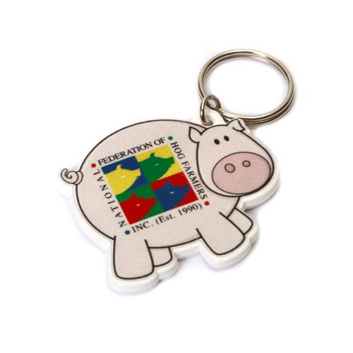 Pig Shaped Keyring