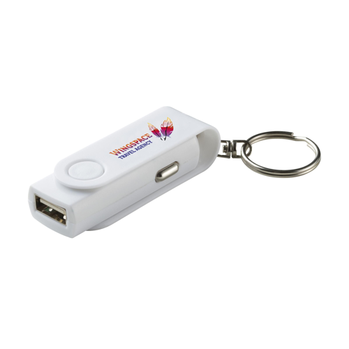 Twist Usb Carcharger Charger White