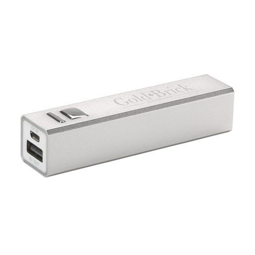 Powercharger 2600 Powerbank Silver