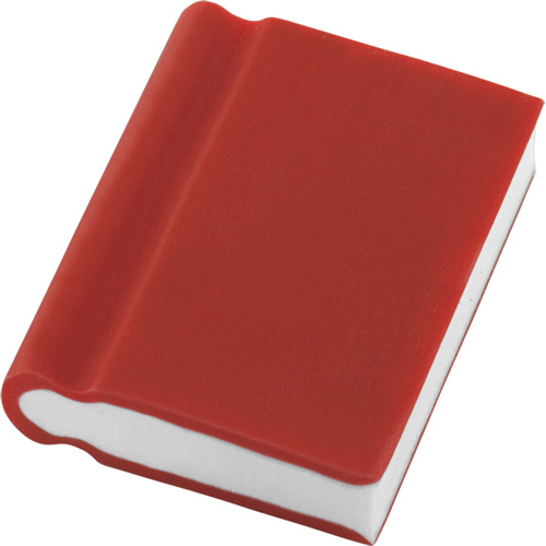Eraser - Book Shape in red