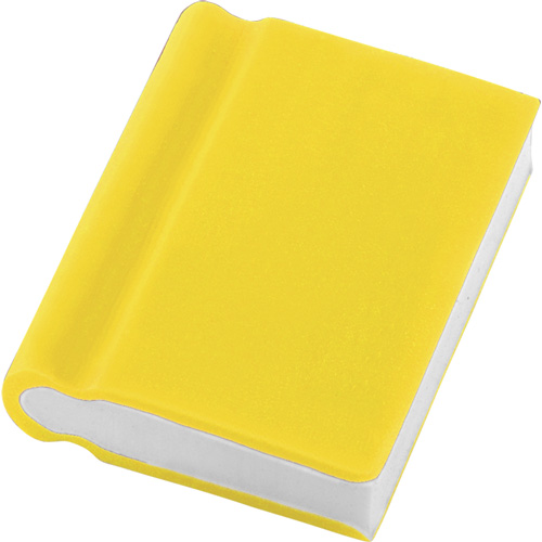 Eraser - Book Shape in yellow