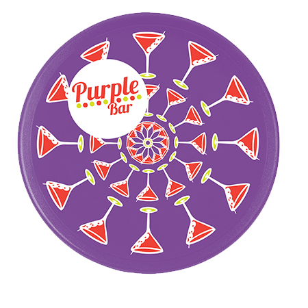 Solid Plastic Coasters in round-purple