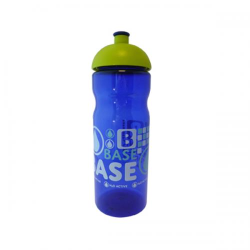 Base Sports Bottle in white-domed-lid