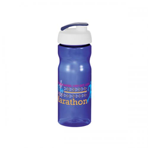 Base Sports Bottle in blue-flip-lid