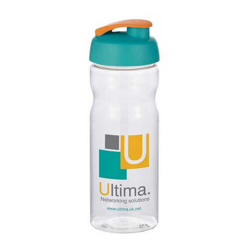 Base Sports Bottle in clear-flip-lid